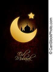 abstract background for eid mubarak festival - dark abstract...