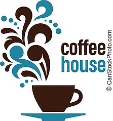Coffee house, abstract vector illustration