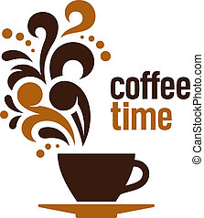 Coffee time, abstract vector illustration