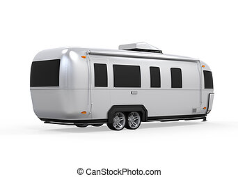 Airstream Camper Isolated - Airstream Camper isolated on...