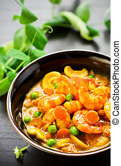 spring masala - masala with green pea,carrot,shrimps and nut