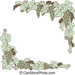 Grape vine border design - A grapevine border frame design...