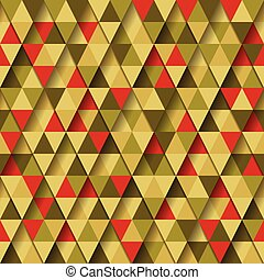 Triangle Pattern - Vector Abstract Seamless Triangle Pattern