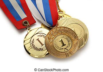 metal, medalhas