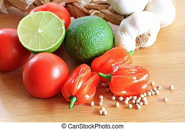 Mexican vegetables - Close up image of assorted kinds of...