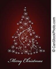 Abstract snowflake christmas tree