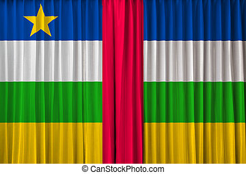 Central African Republic flag on curtain