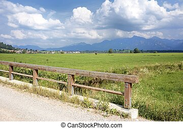 Allgaeu Landscape - Landscape in the Allgaeu Bavaria,...