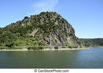 Loreley Rock - The legendary Loreley Rock at the river Rhine...