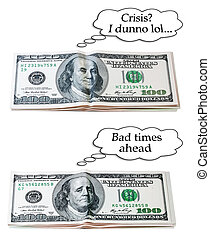 optimistic or pessimistic USD set - set of isolated images...