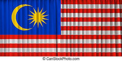 Malaysia flag on curtain