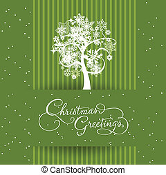 green banned christmas card