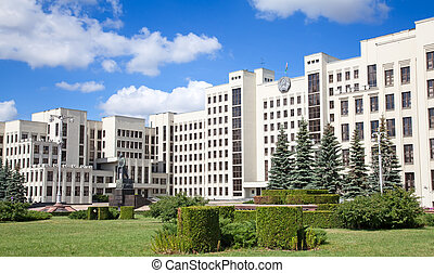 Parliament building in Minsk. Belarus - Parliament building...