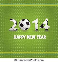 happy new year 2014 with foodball