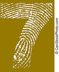 Fingerprint Number 7 - Fingerprint Number - 7 (Highly...