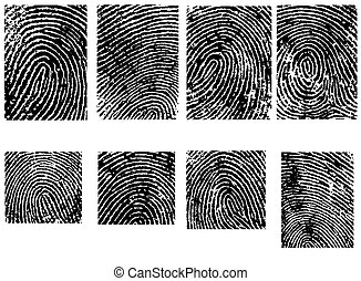 8 Fingerpinrt Crops - 8 Separate vector illustrations -...