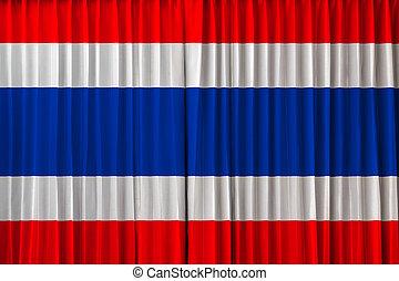 Thailand flag on curtain