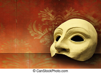 Theater mask - Beautiful elegant composition of one classic...