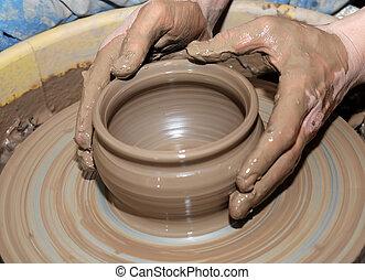 potter\'s, wheel