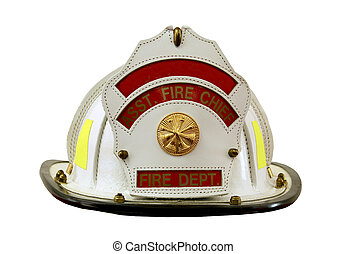 fireman's helmet isolated over a white background with a...