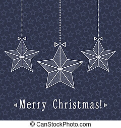 vector christmas card design with stars