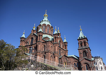 Uspenski Cathedral, Helsinki - Uspenski Cathedral closeup,...