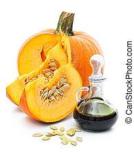 Fresh pumpkin oil