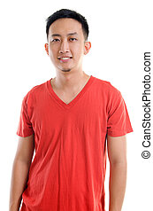 Casual Southeast Asian man - Portrait of young casual...