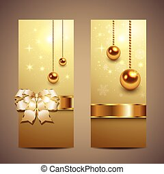 Christmas banners - Elegant Christmas banners, vector.