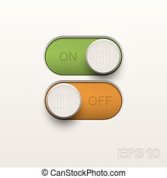 Toggle Design elemnts - Toggle Design elements Vector...