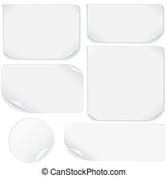 Isolated Blank Paper Sheet