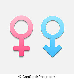 Mars and venus symbols Vector illustration