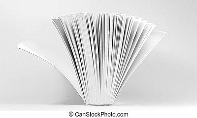 weißes, Buch, rgeöffnete, hintergrund