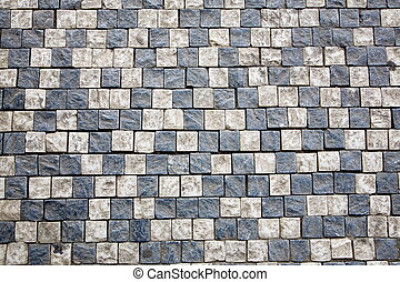 Cobblestone mosaic - Mosaic of Prague sidewalk Background...