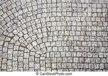 Cobblestone sidewalk - Prague sidewalk Background texture