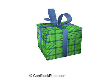 Box isolated object - Gift box isolated object