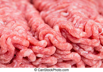 Raw minced meat close-up.