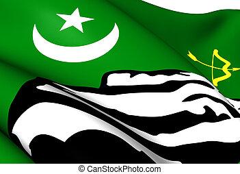Flag of Hunza, Pakistan.