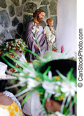 Saint Josephs Cathedral in Rarotonga Cook Islands -...