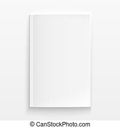 Blank magazine template with soft shadows. - Blank magazine...
