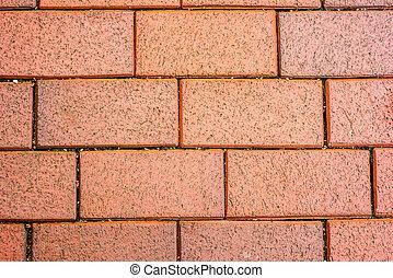 mur, brique, rouges