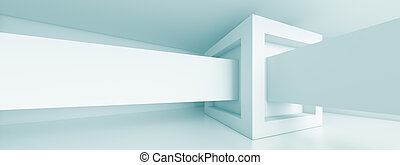 Panoramic Architecture Background - Abstract Horizontal...