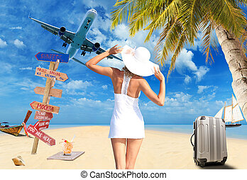YOung woman on the beach - Young woman on the beach Travel...