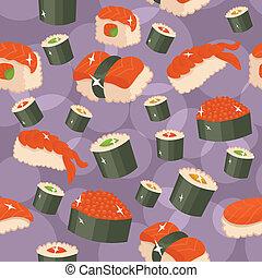 Seamless sushi background