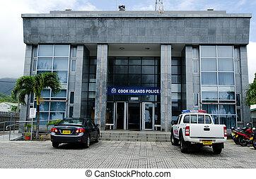 Police headquarters in Rarotonga Cook Islands - RAROTONGA -...