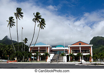 Cook Islands Minister of Justice building in Avarua...