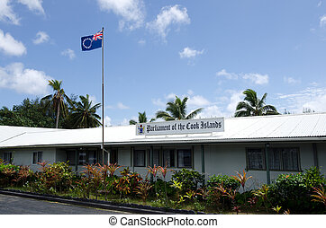 Parliament of the Cook Islands in Rarotonga Cook Islands -...