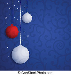 Christmas Vector Background with Balls