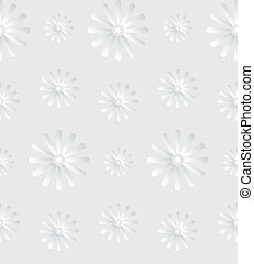 Seamless Gray Background with Daisy Flowers - Seamless...
