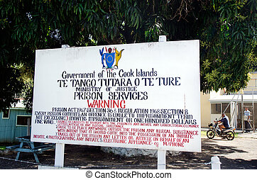 RAROTONGA - SEP 21:Cook Island Prison rehabilitation center...